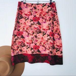 Snak for Anthropologie corduroy and velvet skirt